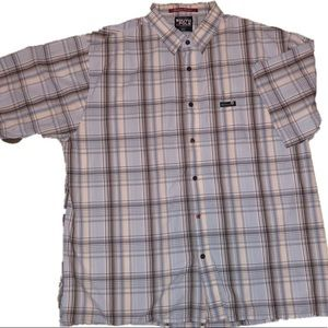 Other - Men's XXL Plaid shorts sleeve button up shirt